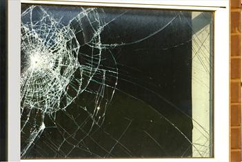 broken window needs new glass